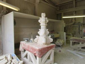 stone mason lincolnshire ancient church finial restoration