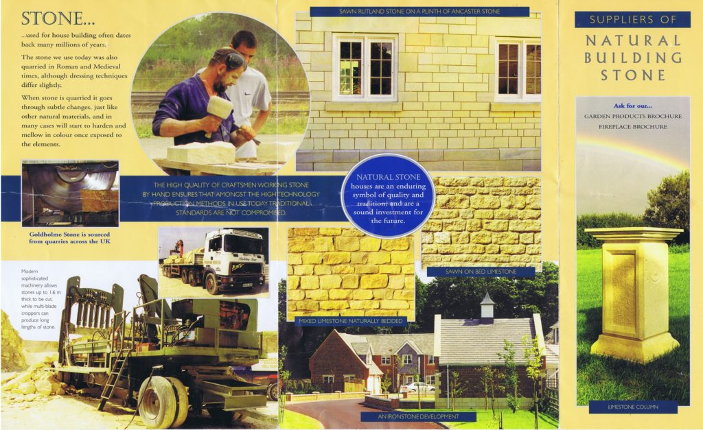 Stone Mason Lincolnshire limestone brochure from 20 years ago