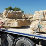 Landscaping Boulders on Lorry